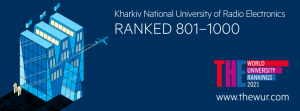 Позиції ХНУРЕ у рейтингу THE World University Rankings